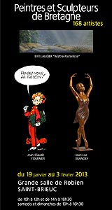 Biennale Peintres et Sculpteurs de Bretagne – Saint-Brieuc du 19 jan au 3 fév 2013