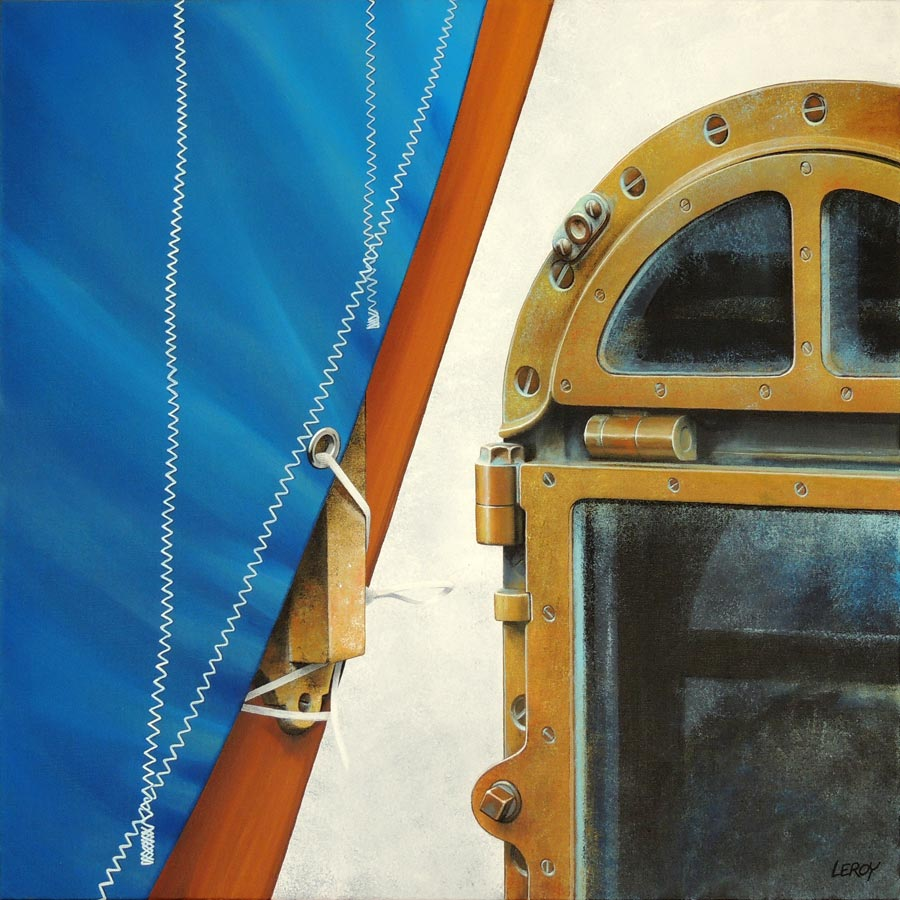 """Captain Hublot"" acrylique/toile 80x80cm © Christian LEROY 2012"