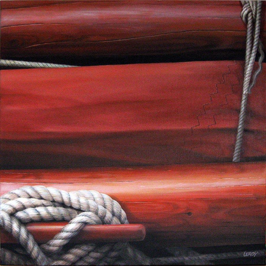 """Taillevent"" acrylique/toile 80x80cm © Christian LEROY 2012"