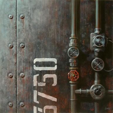 « Sous pression » acrylique/toile 80x80cm © Christian LEROY 2013