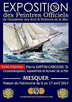 Expo Peintres Officiels de l'Académie des Arts & Sciences de la Mer - Mesquer du 8 au 17 avril 2014