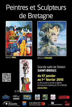 Biennale Peintres et Sculpteurs de Bretagne - Saint-Brieuc du 17 janvier au 1er février 2015 - Christian LEROY