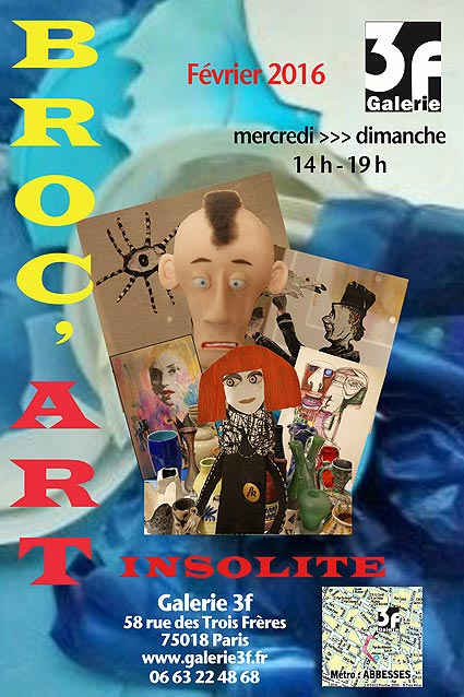 Paris Galerie 3f 2016 Broc'art - Christian LEROY