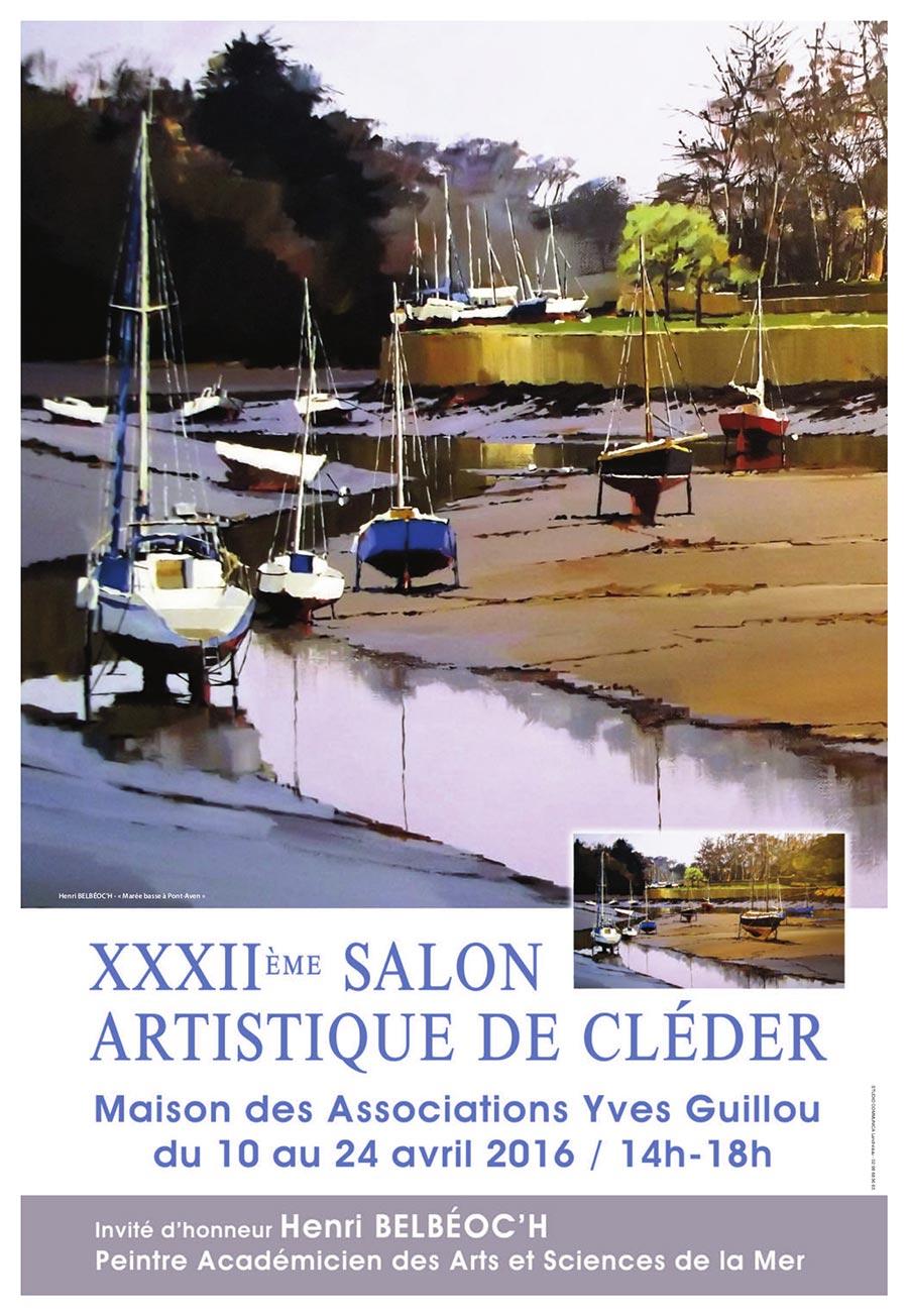 XXXIIème Salon Artistique - Cléder (29) - du 10 au 24 avril 2016 - affiche