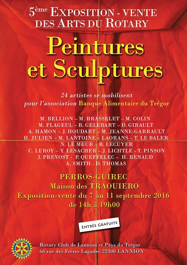 Expo-vente arts du Rotary - Traouiero - Perros-Guirec - 7 au 11 sept 2016 - Christian LEROY