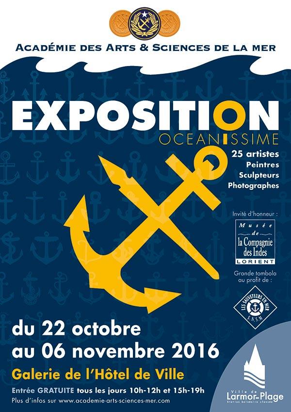 Affiche OCEANISSIME 2016 - Exposition Larmor-Plage du 22 octobre au 06 novembre - Christian LEROY