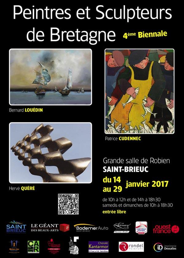 Biennale Peintres et Sculpteurs de Bretagne - 14-29 janvier 2017 - Affiche