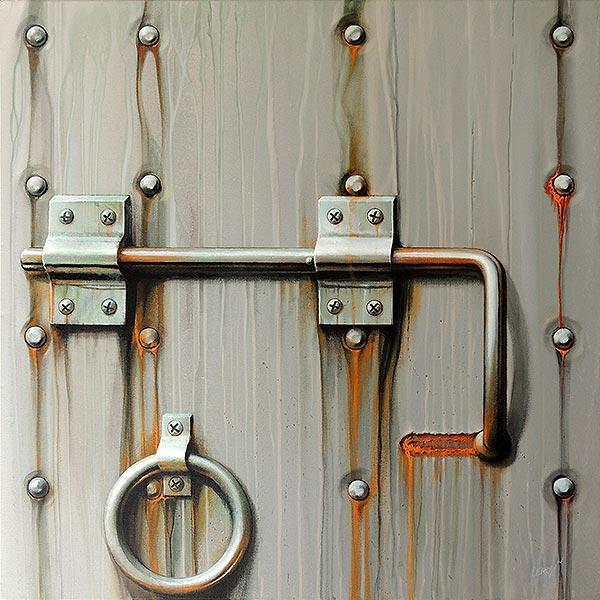 Etat des lieux II - acrylique/toile 80x80 © Christian Leroy