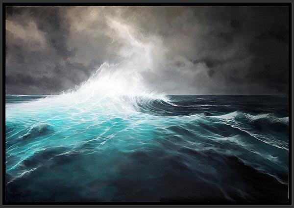 Vague à lame I - acrylique/toile 130x90 © Christian Leroy