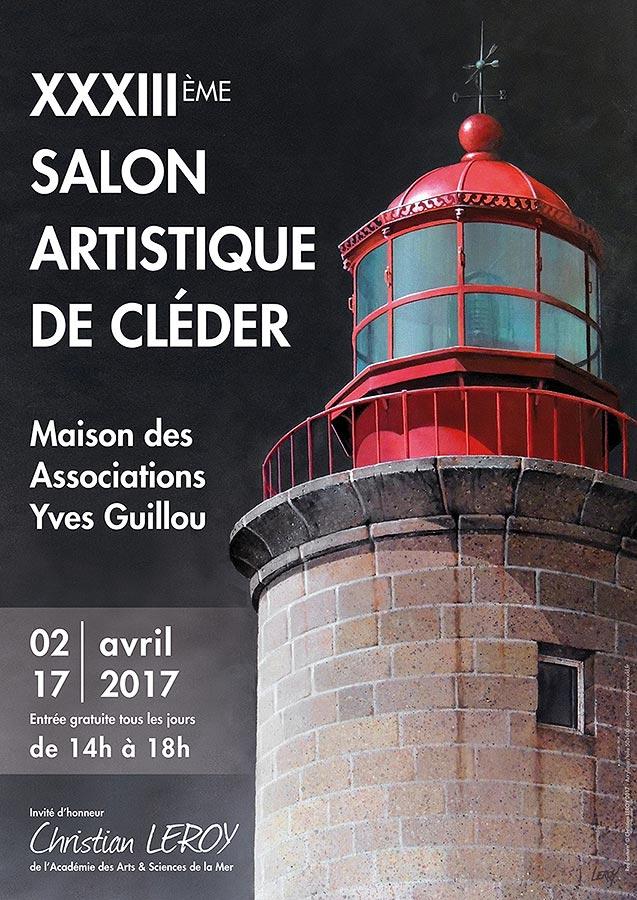 Salon Artistique de Cléder - Affiche avril 2017 - Christian Leroy