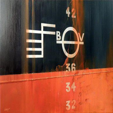 Franc-bord II - acrylique/toile 80x80cm © Christian LEROY