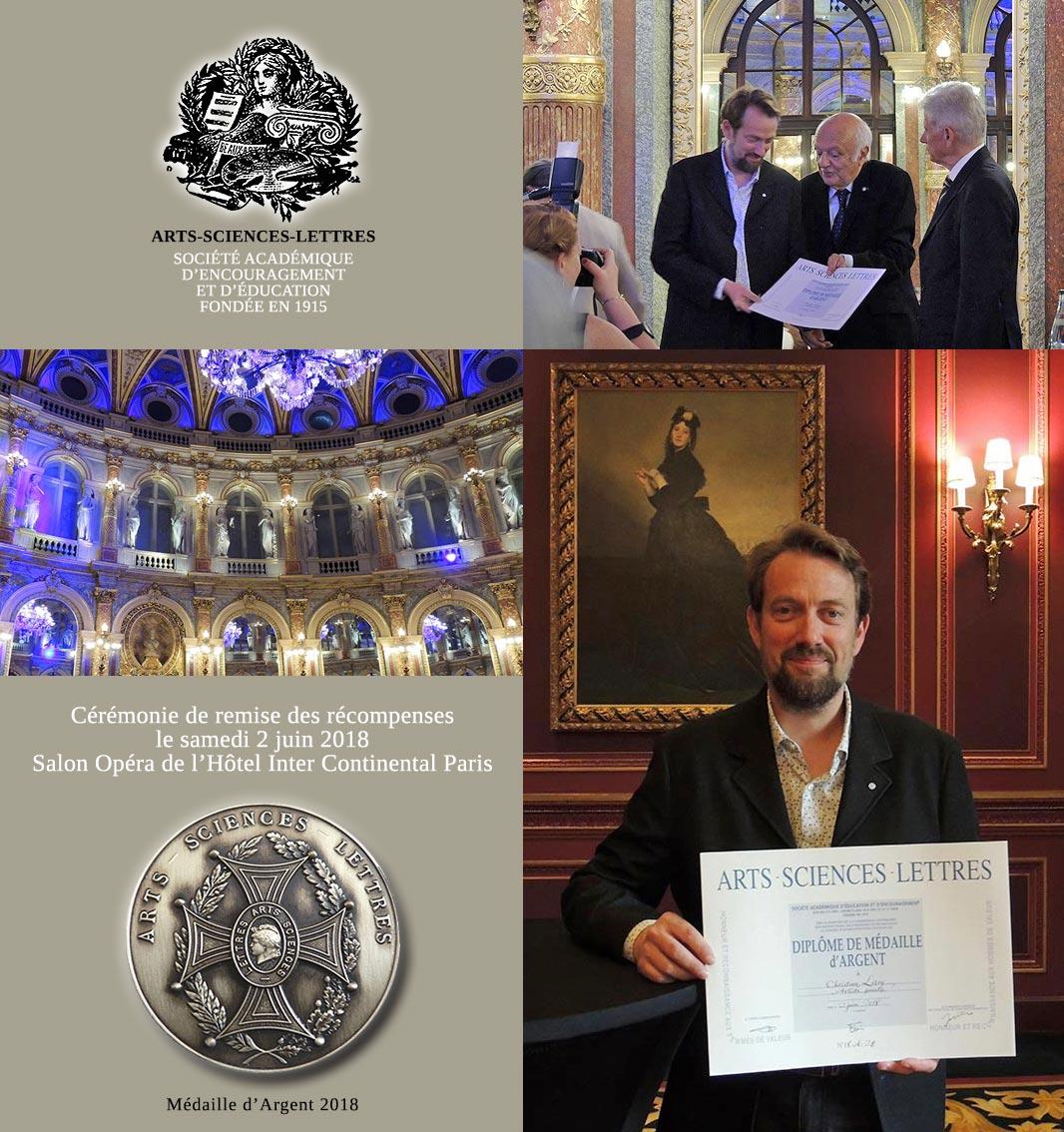 Christian Leroy - Médaille d'Argent - Arts-Sciences-Lettres
