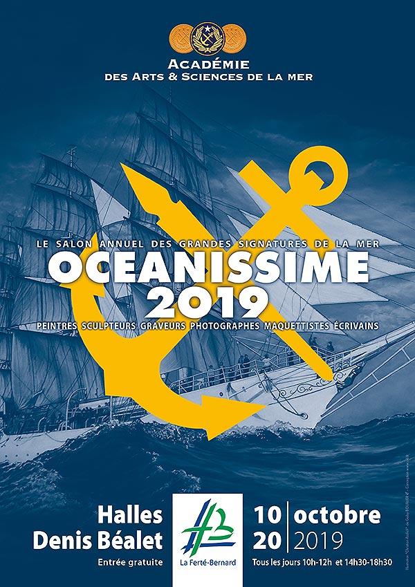 Académie des Arts et Sciences de la Mer - La Ferte Bernard - Océanissime 2019 affiche
