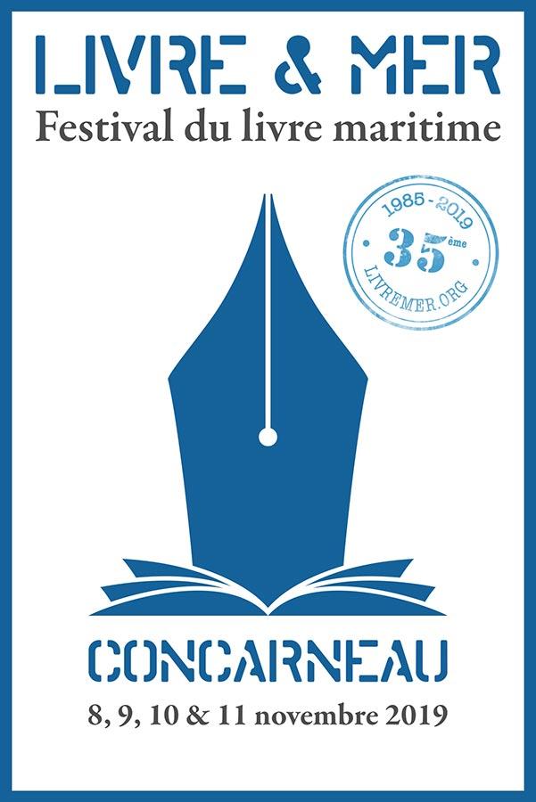 Affiche Festival Livre & Mer Concarneau 2019
