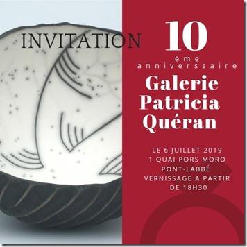 Galerie Patricia Quéran invitation 10 ans