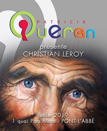 Galerie Patricia Quéran - Pont-L'Abbé - affiche Christian LEROY