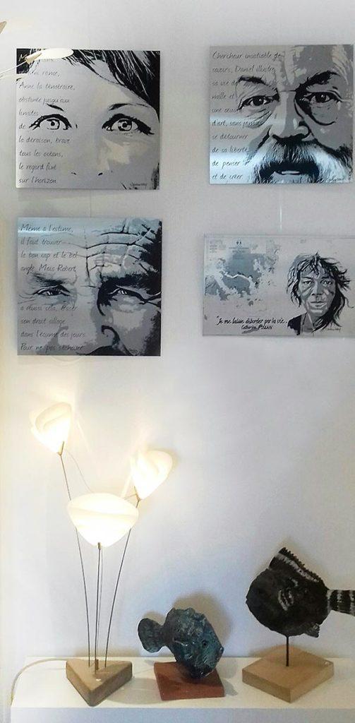 Christian LEROY sérigraphies face[s] au vent – Galerie Patricia Quéran Pont-L'Abbé 2019