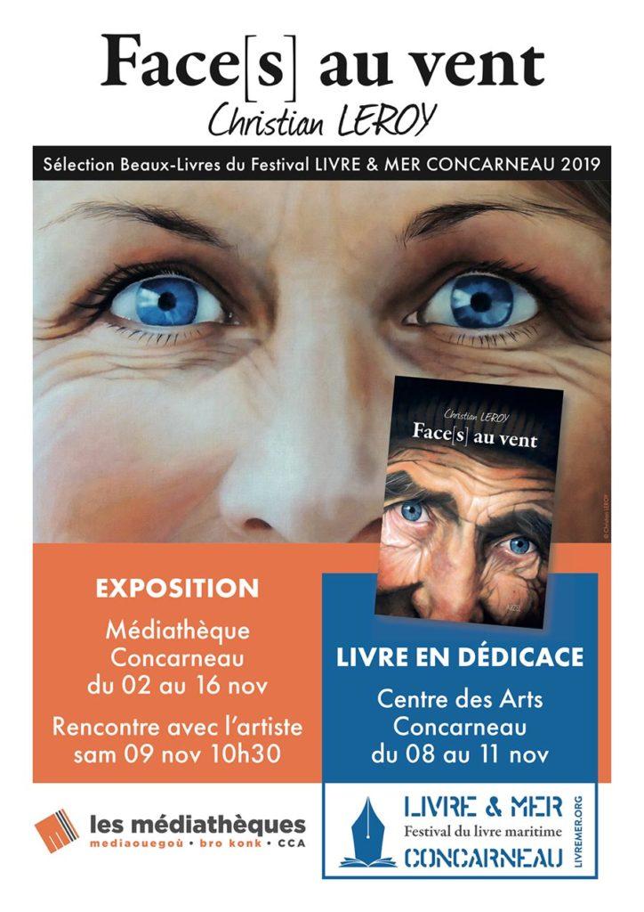 Affiche Festival Livre & Mer - Médiathèque - Concarneau 2019 - Christian LEROY