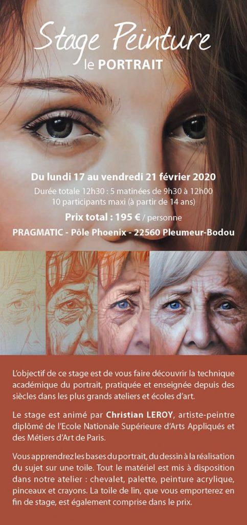 Stage peinture - Le portrait