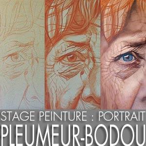 Stage peinture : le portrait à Pleumeur-Bodou en février 2020