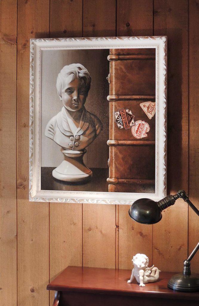 20 novembre 1959 - acrylique sur toile 55x46 encadrée © Christian LEROY