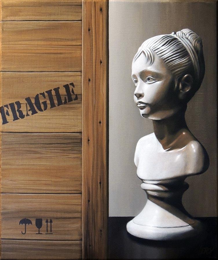 20 novembre 1989 - acrylique sur toile 55x46 © Christian LEROY
