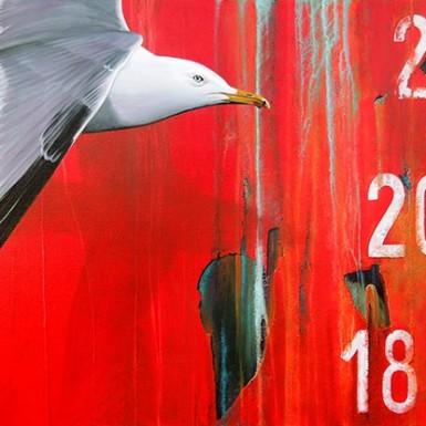 """Ecorché Vif"" - acrylique/toile 130 x 90 cm © Christian LEROY"