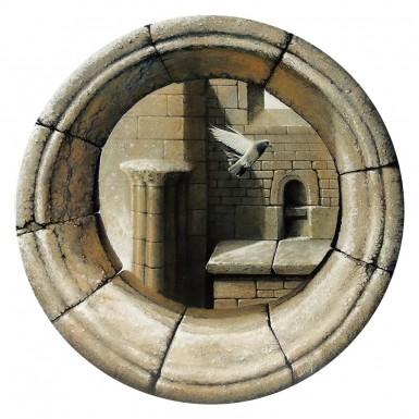 """""""Oculus"""" acrylique/toile ø 50 cm © Christian LEROY"""