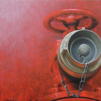 Rouge LV - acrylique/toile 80x80 cm © Christian LEROY