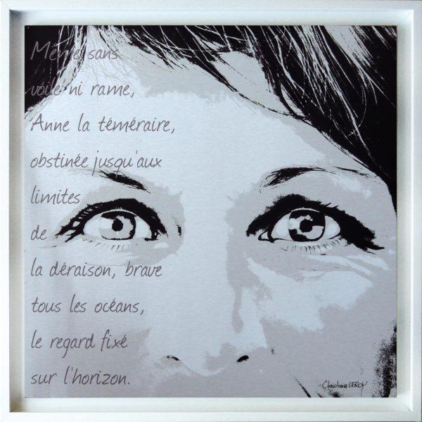 Anne sérigraphie II/III +cadre - ChristianLEROY