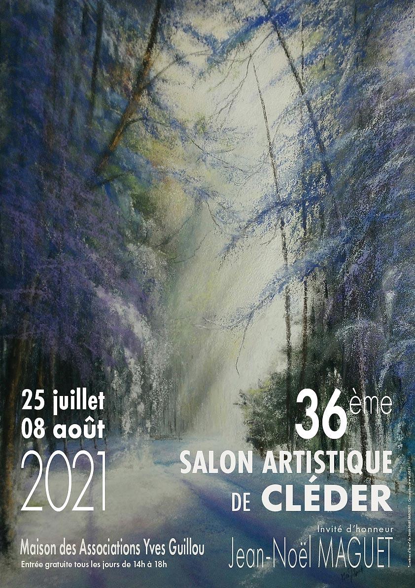36 salon artistique de Cléder - 25 juillet au 08 août 2021 - affiche