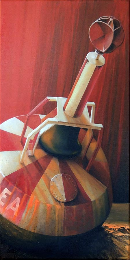 """© Christian LEROY """"Abandonnée"""" acrylique sur toile 40x80cm"""