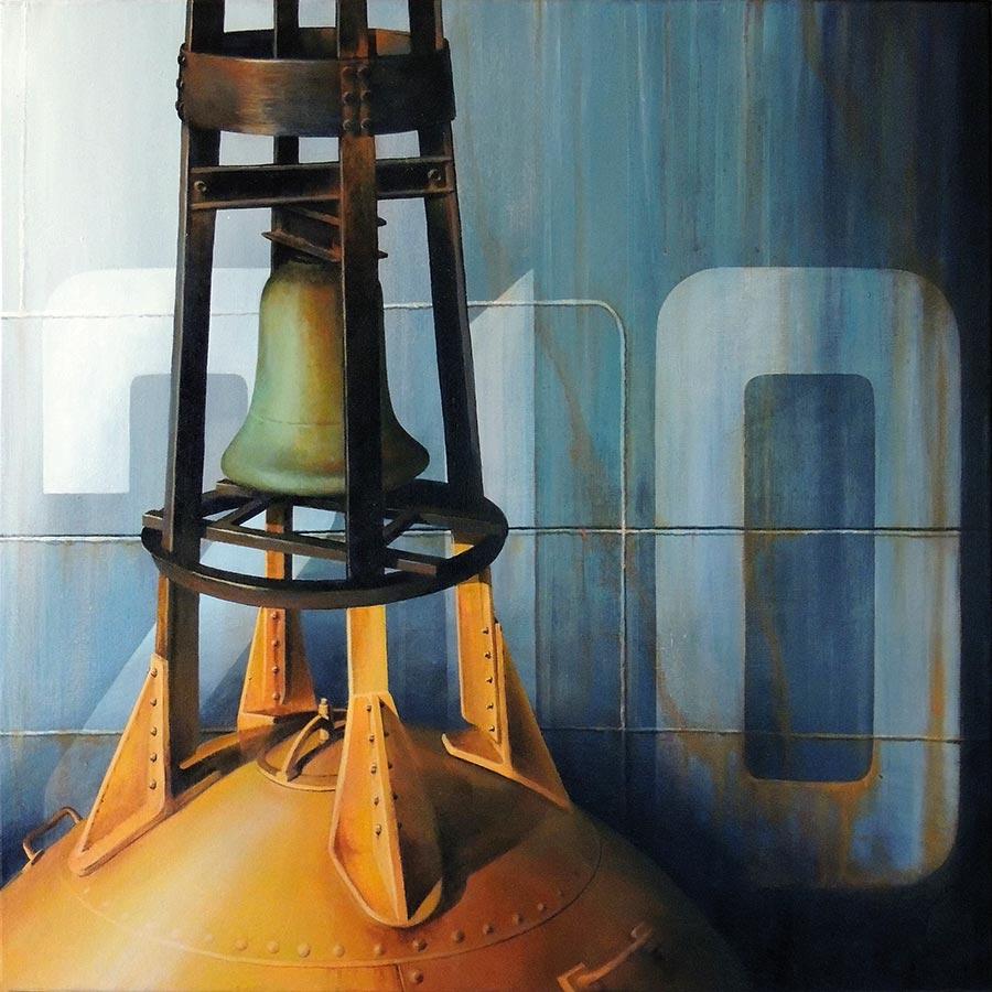 """© Christian LEROY """"Stabilisée"""" acrylique sur toile 80x80cm"""